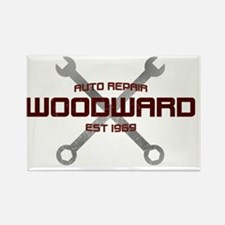 Woodward Ave Auto Repair Rectangle Magnet