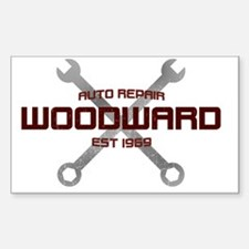 Woodward Ave Auto Repair Sticker (Rectangle)