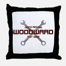 Woodward Ave Auto Repair Throw Pillow