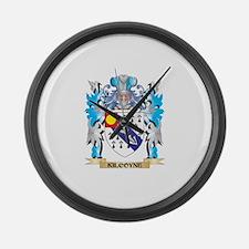 Kilcoyne Coat of Arms - Family Cr Large Wall Clock