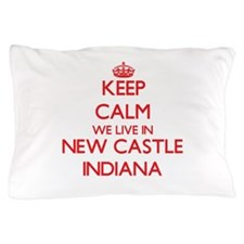 Keep calm we live in New Castle Indian Pillow Case