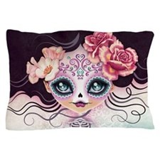 Camila Huesitos Sugar Skull Pillow Case