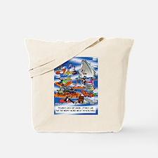Boat Cartoon 8280 Tote Bag