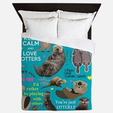 Otters Queen Duvet