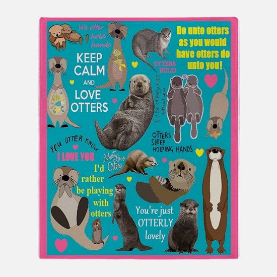 Otters Throw Blanket