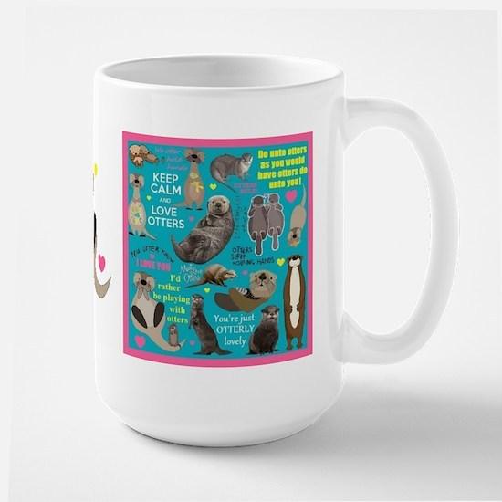 Otters Large Mug Mugs