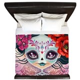 Sugar skulls King Duvet Covers