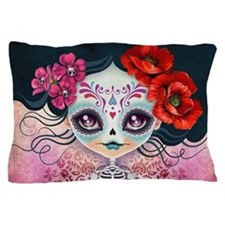 Amelia Calavera Sugar Skull Pillow Case