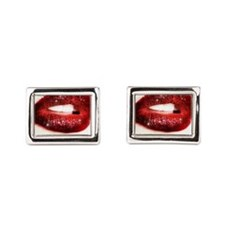 lips Rectangular Cufflinks