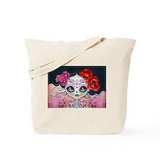 Amelia Calavera Sugar Skull Tote Bag