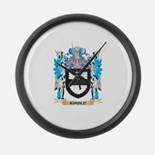 Kimble Coat of Arms - Family Cres Large Wall Clock