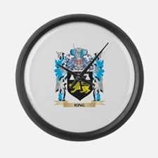 King Coat of Arms - Family Crest Large Wall Clock