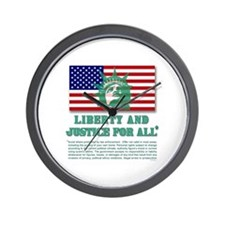 Liberty - Legal Disclaimer Wall Clock