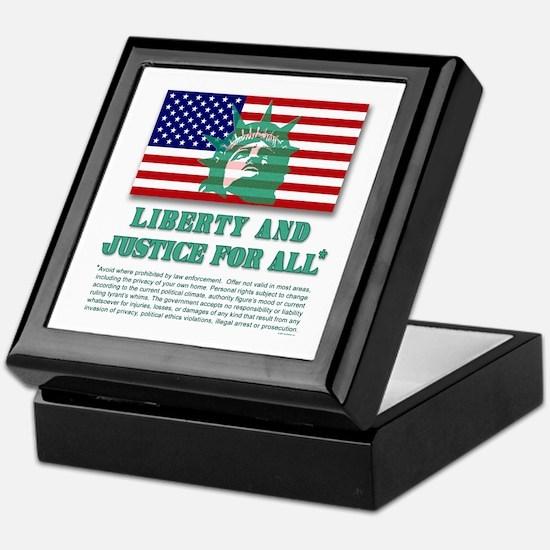 Liberty - Legal Disclaimer Keepsake Box