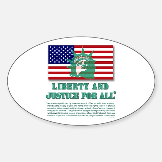 Liberty - Legal Disclaimer Oval Decal