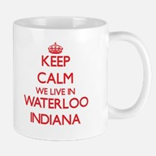 Keep calm we live in Waterloo Indiana Mugs