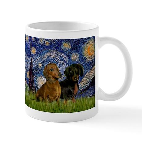 Starry Night & Dachshund Pair Mug