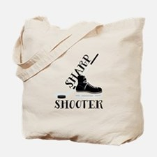 Hockey Stick Skate Puck Sharp Shooter Tote Bag