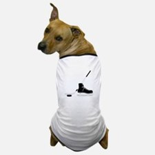 Hockey Stick Skate Puck Dog T-Shirt