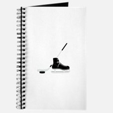 Hockey Stick Skate Puck Journal