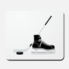 Hockey Stick Skate Puck Mousepad