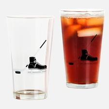 Hockey Stick Skate Puck Drinking Glass