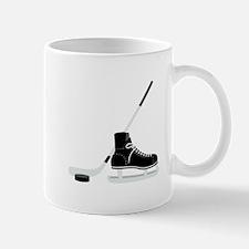 Hockey Stick Skate Puck Mugs