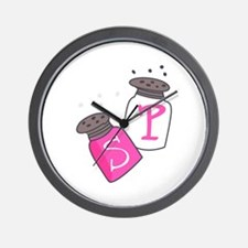 SALT AND PEPPER SHAKERS Wall Clock