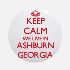 Keep calm we live in Ashburn Geor Ornament (Round)
