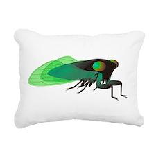 Green Cicada Illustratio Rectangular Canvas Pillow