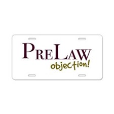 Objection! Aluminum License Plate