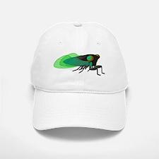 Green Cicada Illustration Baseball Baseball Cap
