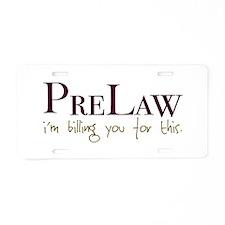 PreLaw Billing Aluminum License Plate