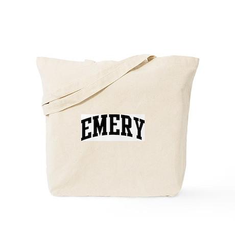 EMERY (curve-black) Tote Bag