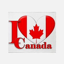 I love Canada Throw Blanket