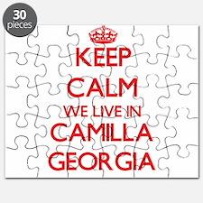 Keep calm we live in Camilla Georgia Puzzle