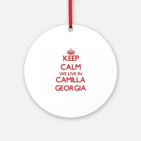 Keep calm we live in Camilla Geor Ornament (Round)
