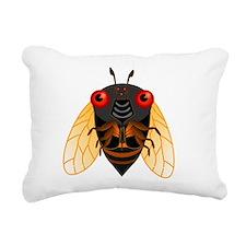 Cute Cicada Illustration Rectangular Canvas Pillow