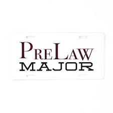 PreLaw Major Aluminum License Plate