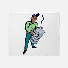 Garbage Man Throw Blanket