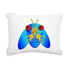 Blue Cicada Logo Rectangular Canvas Pillow