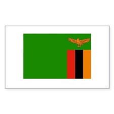 Zambian Flag Rectangle Decal