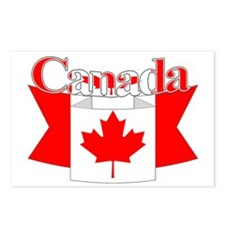 Canada ribbon Postcards (Package of 8)