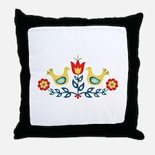 Scandinavian Swedish Decorative Floral Folk Art Bi