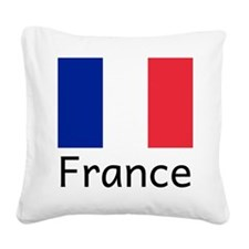 Cute France Square Canvas Pillow