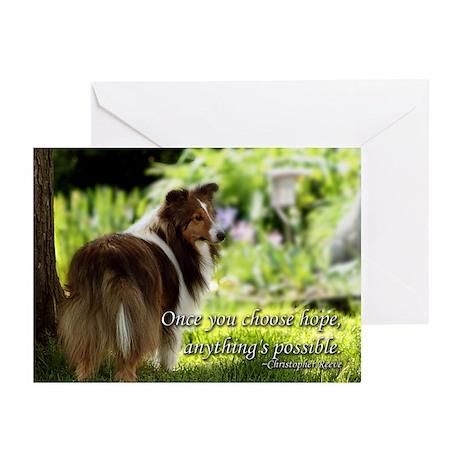 Choose Hope Sheltie Cards (Pk of 10)