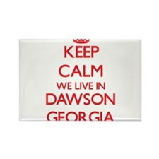 Keep calm we live in Dawson Georgia Magnets