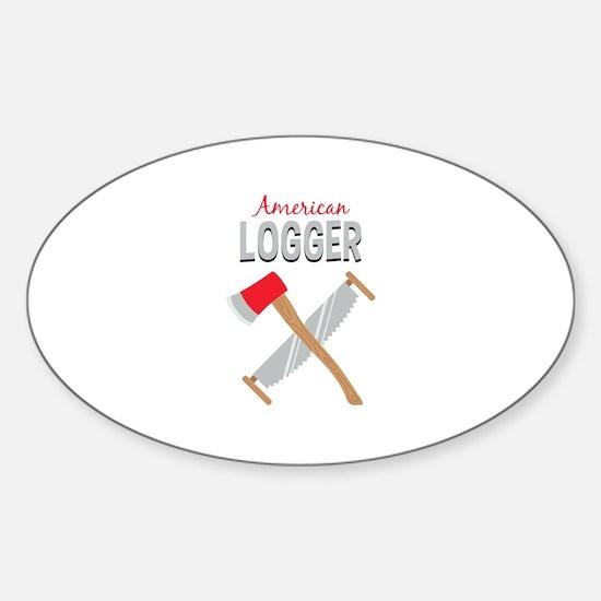 Saw Axe Lumberjack American Logger Decal
