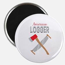 Saw Axe Lumberjack American Logger Magnets