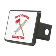Saw Axe Lumberjack Logging Team Hitch Cover